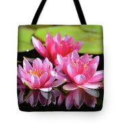 Water Lilly Triplets Tote Bag