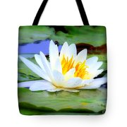 Water Lily - Digital Painting Tote Bag