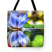 Water Lily And Bee Tote Bag