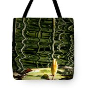 Water Lily Budd Tote Bag