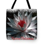 Water Lily Christmas Tote Bag