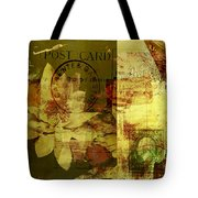 Water Lily Collage Tote Bag