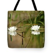 Water Lily Duet Tote Bag