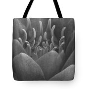 Water Lily Flame Bw Tote Bag