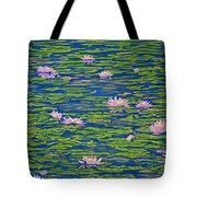 Water Lily Flowers Happy Water Lilies Fine Art Prints Giclee High Quality Impressive Color Lotuses Tote Bag