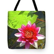 Water Lily In Pond Tote Bag