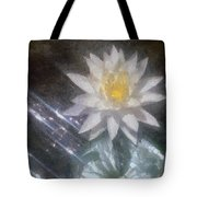 Water Lily In Sunlight Tote Bag