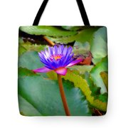 Water Lily In Tahiti Tote Bag