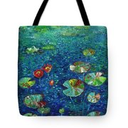 Water Lily Lotus Lily Pads Paintings Tote Bag