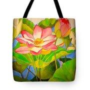 Water Lily Lotus Tote Bag