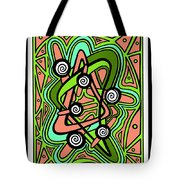 Water Lily Swirl Tote Bag