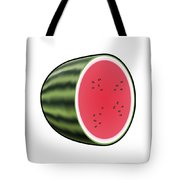Water Melon Outlined Tote Bag
