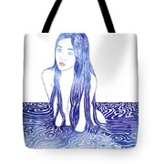 Water Nymph L Tote Bag