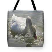Water Off A Swan's Back Tote Bag