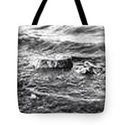 water over rock BW Tote Bag