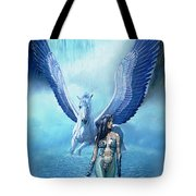 Water Pegasus Tote Bag