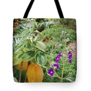 Water Plants And Flower Tote Bag