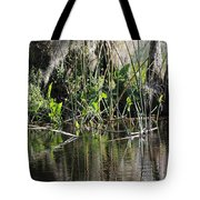 Water Reeds And Spanish Moss Tote Bag