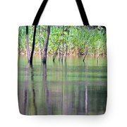 Water Reflections On Amazon River Tote Bag