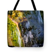 Water Running Over Rocks Tote Bag