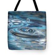 Water Sculpture In Blue 1 Tote Bag