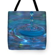 Water Sculpture Neon Blue 1 Tote Bag