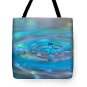 Water Sculpture Neon Blue 2 Tote Bag