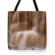 Water Softly Falling Tote Bag