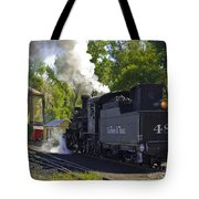 Water Tank And Steam Engine Tote Bag