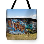 Water Tank Graffiti Tote Bag