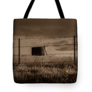 Water Tank On The Pasture  Tote Bag