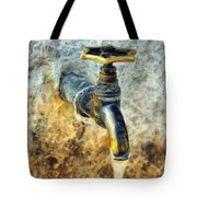 Water Tap Tote Bag