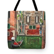 Water Taxi On Venice Side Canal Tote Bag