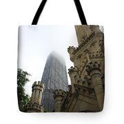 Water Tower And Hancock Tote Bag