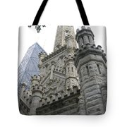 Water Tower And Sears Tower Tote Bag