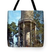 Water Tower In Malmi Cemetery Tote Bag