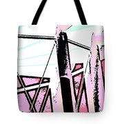 Water Tower In Pink Abstract Tote Bag