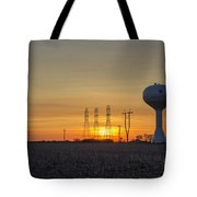 Water Tower Of Sunset Tote Bag