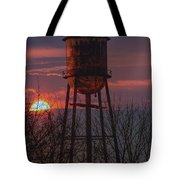 Water Tower Sunset Tote Bag