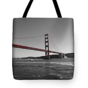 Water Underneath The Bridge-black And White Tote Bag