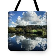 Water Vapour On A Mirror Tote Bag