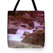 Water Winding Through Rocks Tote Bag