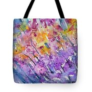 Watercolor - Abstract Flower Garden Tote Bag