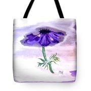 Watercolor Anomone Tote Bag