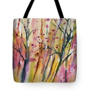 Watercolor - Autumn Forest Impression Tote Bag