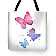 Watercolor Butterflies Tote Bag