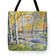 Watercolor - Colorado Autumn Forest And Landscape Tote Bag