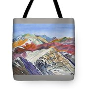 Watercolor - Colorado Elk Range View Tote Bag