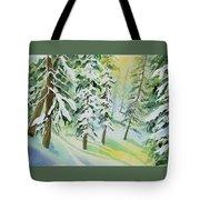 Watercolor - Colorado Winter Tranquility Tote Bag