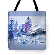 Watercolor - Colorado Winter Wonderland Tote Bag